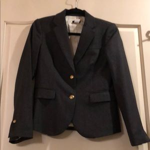 Black J Crew Wool Blazer w/ golden Buttons 2